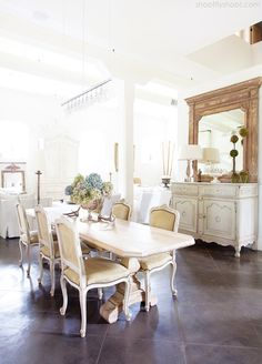 White dresser - Atchison Home   Dining Room   Rustic Elegance