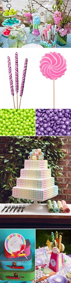 Candy party + Cake idea.