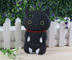 Kutusita nyanko 3D iPhone case (black).  Buy now for only $22.99!
