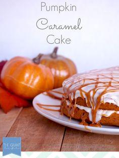 Pumpkin Caramel Cake!  Your friends won't believe how easy it was to make. #FallintoAutumn