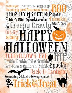 Print. Halloween subway art printable