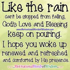 GOD'S LOVE & BLESSING KEEP ON POURING!