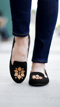 DIY Leather Embellished Loafers made with Cricut Explore -- Kristi Murphy. #DesignSpaceStar Round 2