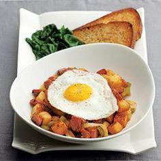 Quick Pastrami Hash & Eggs