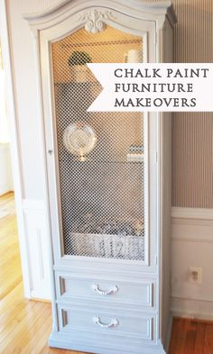 Chalk Paint Tips & Tricks from 11 Magnolia Lane {makeovers using ASCP french gray, old white and french gilding wax}