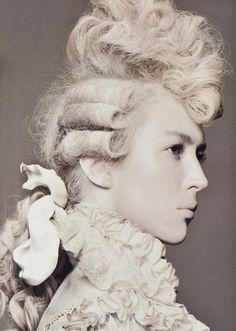 balenciaga spring, david sims, rococo, hair inspir, baroqu, sim fashion, mari antoinett, hair style, marie antoinette hairstyle