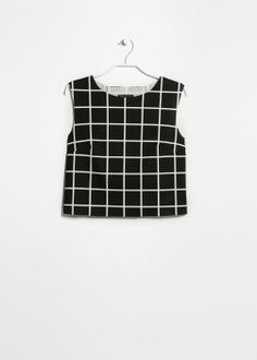 checked crop top - check out the back