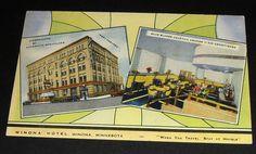 Winona Hotel in Winona, Minnesota 1940's postcard www.visitwinona.com