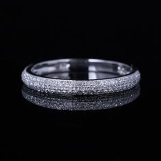 Solid 10K White Gold