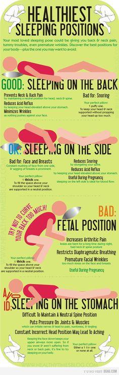 Healthy sleep positions.