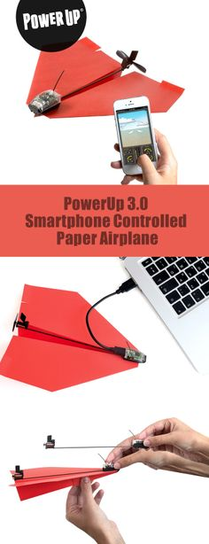 PowerUp 3.0 Smartphone Controlled Paper Airplane *** PowerUp Toys has introduced a new form of play by meshing origami classics with technology. This time we took a big leap forward, by integrating state-of-the-art Bluetooth Smart technology into our PowerUp design. Now you can easily control a simple homemade paper airplane with your smartphone. Say hello to the World's First Smartphone Controlled Paper Airplane - PowerUp 3.0