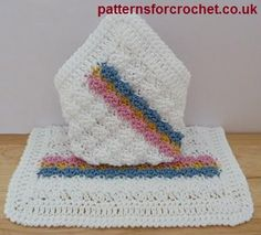 Free crochet pattern for baby washcloth from http://patternsforcrochet.co.uk/baby-cotton-washcoth-usa.html #patternsforcrochet