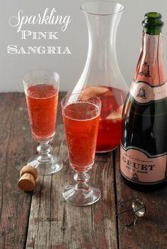 Sparkling Pink Sangria | BoulderLocavore.com