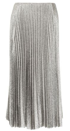 Olivia Palermo's #NYFW Pin Picks: Try this silver pleated skirt by Cedric Charlier to emulate the draped gypsy glam of Tia Cibani SS '15.