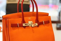red and orange Hermes