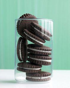 Chocolate 'n' Cream Sandwich Cookies - Martha Stewart Recipes