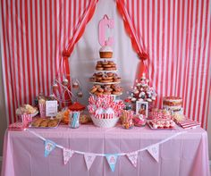 Project Nursery - Carnival 1st Birthday Party Sweets Table