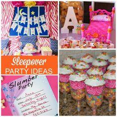 Sleepover birthday party ideas!