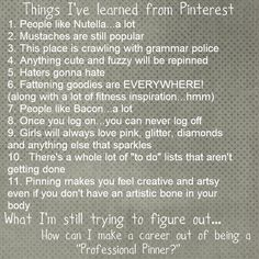 Things i've learned from Pinterest . . .