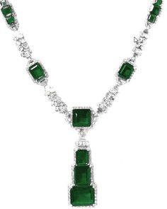 Maharajah Nawanagar Emeralde Necklace #Royal #jewels