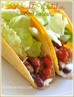 weight watcher tacos
