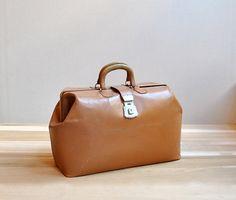 Large Vintage Doctor's Bag by LittleDogVintage on Etsy, $40.00