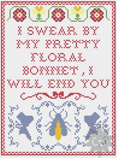 Firefly Captain Mal quote cross stitch sampler by CapesAndCrafts