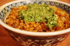 Curried Sprouted Lentils