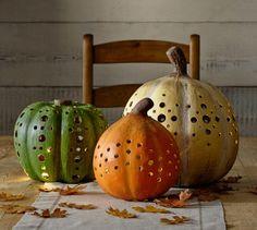 Paper Mache Pumpkin Luminaries | Pottery Barn