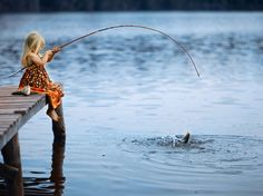 fishing - even little girls love to fish.