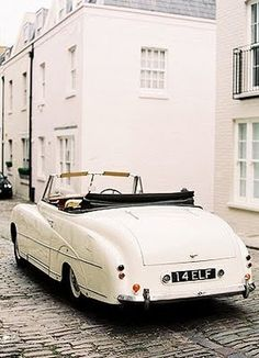 ...this lifestyle - a vintage bentley on a brick road somewhere infinitely romantic