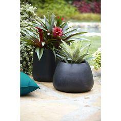 Saabira Fiberstone Tall Planter | Crate and Barrel garden patios, barrels, tall planter, outdoor, saabira fiberston, fiberston tall, planters, fiberston planter, crates