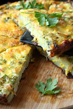 Cheesy Crustless Spinach Quiche Recipe