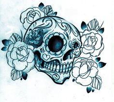 art-black-and-white-diamond-tattoo-drawing-flowers-Favim.com-190833.jpg (400×357)