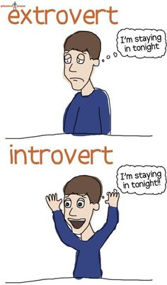 personality tests, comic, alone time, funni, homes, introvert problem, friend, true stories, extrovert