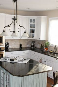 This is how my kitchen could look in white.  (already have counters and similar backsplash).