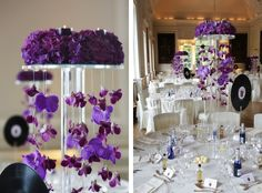 Trendy elegant skinny tall centerpieces