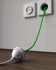 Install an Extension Cord inside the wall. should be a household necessity.