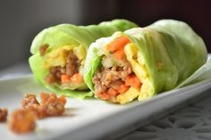 Cold Lettuce Rolls by thefussfreechef #Healthy #Lettuce_Rolls #thefussfreechef