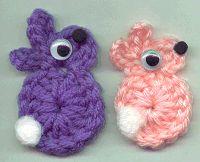 Easter BunnyFridgie - free crochet pattern