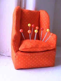 Chair pincushion by Sew Me Something Good, via Flickr