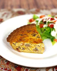 Bacon Cheeseburger Quiche | Plain Chicken