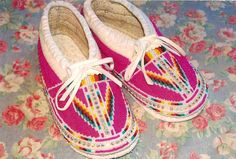 Native American Tribal Beading Patterns | AAI Grant Recipients Dennis Williams and Dana Goodwin Beaded Moccasins