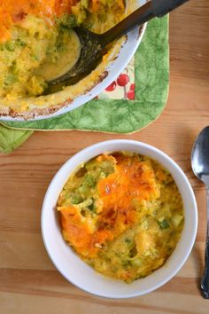 Cheesy Spaghetti Squash and Broccoli