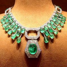 David Webb Emerald and Diamond Necklace