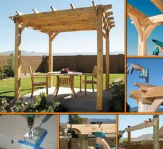 DIY Backyard Pergola: Click On Picture For Step By Step Picture Tutorial & Supply List...