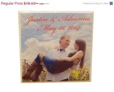 Photo coasters.. great for engagement photos, wedding photos, baby photos!!