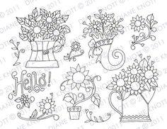 Spring stitchery patterns in our etsy shop! embroidery patterns, stitcheri pattern, embroideri pattern, digit stamp, digital stamps