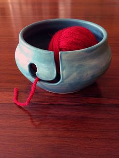 Turquoise Yarn Bowl by FutureRelicsGallery on Etsy, $35.00