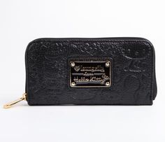Hello Kitty Embossed Long Wallet: Black